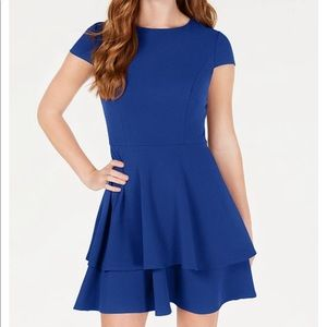 Blue dress with bow in back